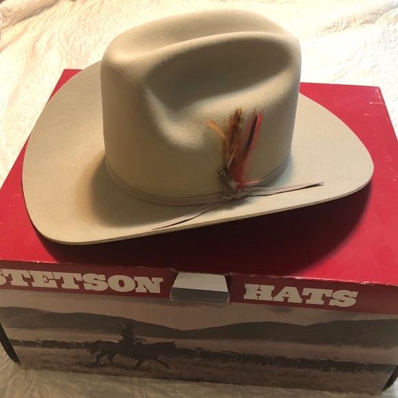 NIB Vintage John B Stetson 4X Beaver Cowboy Hat 690c0b742e9